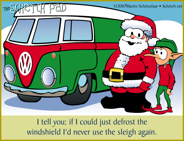 """All things considered, if you think about it, Santa absolutely *has* used a Bus. My money's on """"more than once."""""""