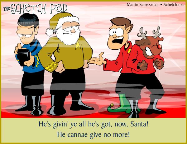 Ye cannae change the laws of physics, Santa!