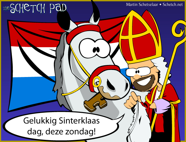 Why yes, I do have Dutch roots, thank you for asking! We celebrated Sinterklaas dag in my dad's house, and now that I'm grown we still put klompen out each year for de Sint. So far, I have managed to avoid Zwarte Piet ;)